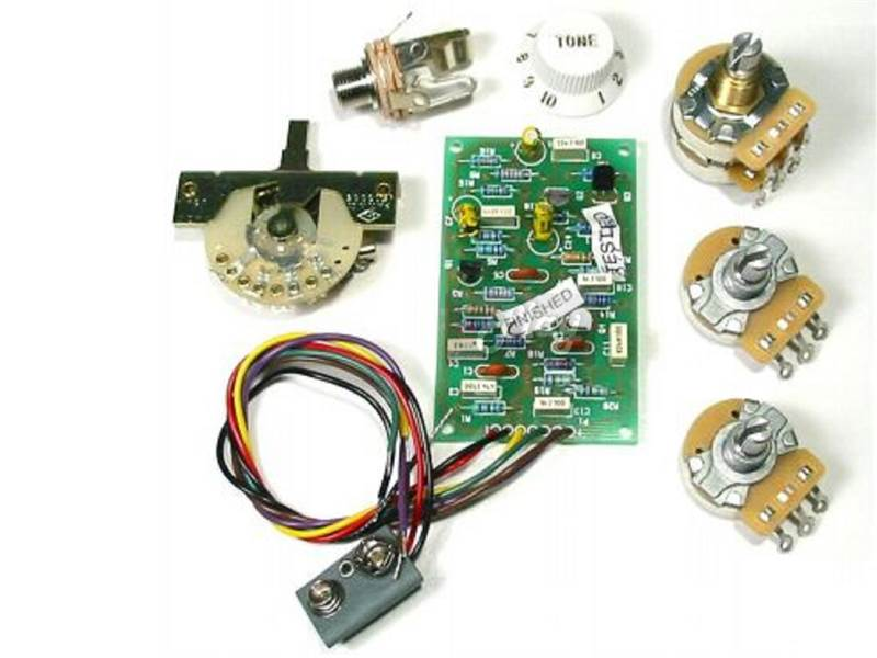 Fender Mid Boost Preamp Kit Eric Clapton | Potenciometre, knoby - 2