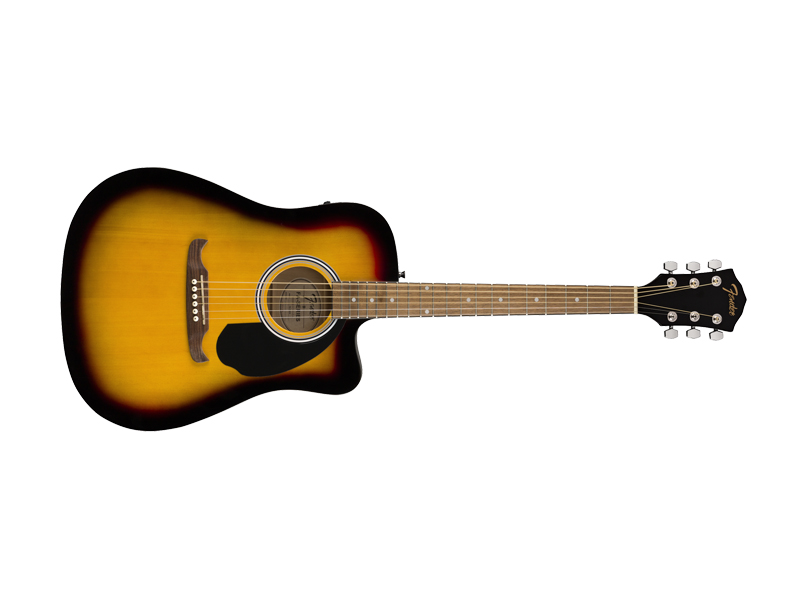 FENDER FA-125CE Dreadnought, Walnut Fingerboard, Sunburst | Dreadnought - 1