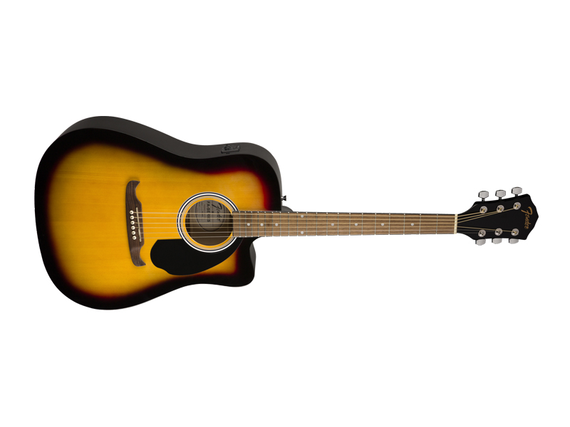 FENDER FA-125CE Dreadnought, Walnut Fingerboard, Sunburst | Dreadnought - 3