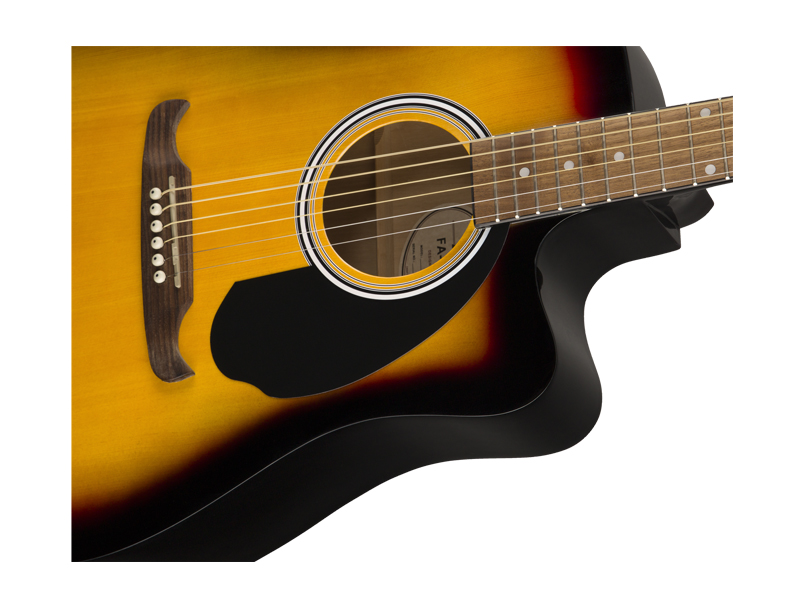 FENDER FA-125CE Dreadnought, Walnut Fingerboard, Sunburst | Dreadnought - 4