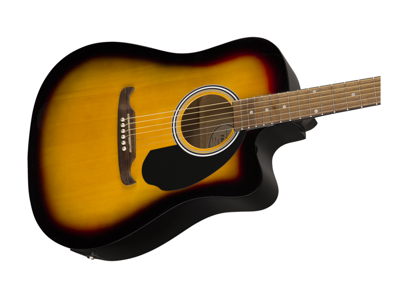 FENDER FA-125CE Dreadnought, Walnut Fingerboard, Sunburst | Dreadnought - 5