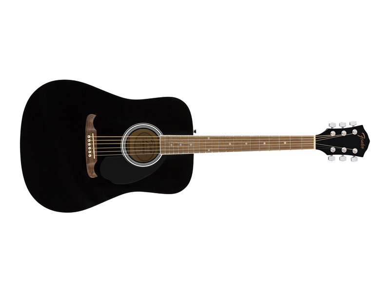 Fender FA-125 Dreadnought, Walnut Fingerboard, Black | Dreadnought - 1