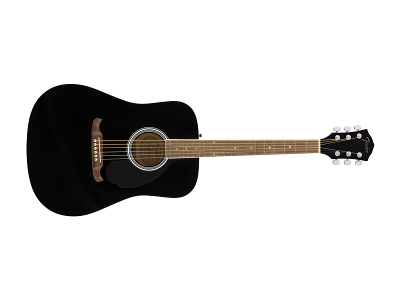 Fender FA-125 Dreadnought, Walnut Fingerboard, Black | Dreadnought - 4