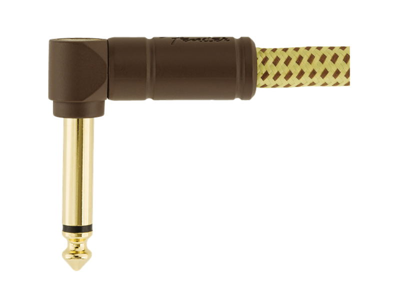 FENDER Deluxe Series Instrument Cable, Angle/Angle, 3', Tweed | Káblové prepojky - 2