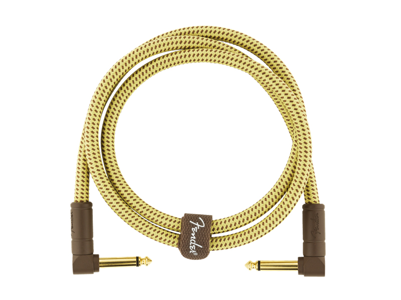 FENDER Deluxe Series Instrument Cable, Angle/Angle, 3', Tweed | Káblové prepojky - 3