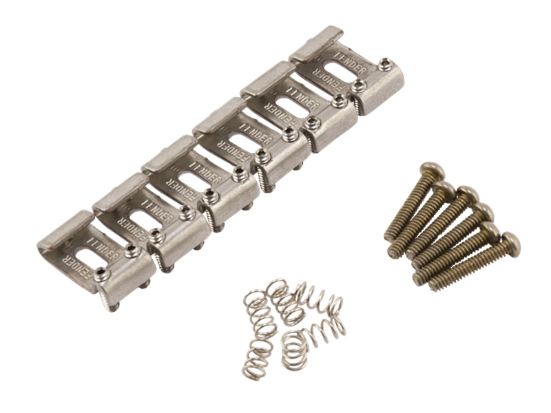 Fender Roadworn Strat Bridge Section Kit (set of 6) | Kobylky a Tremolá - 1