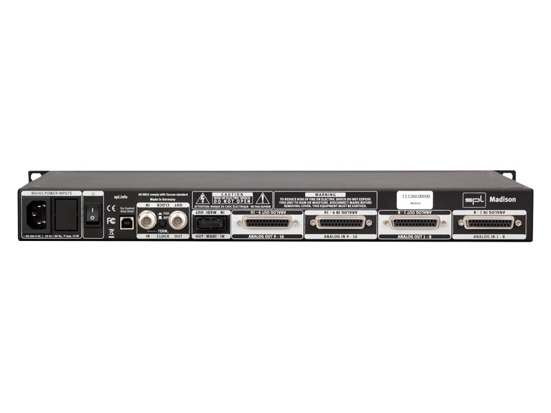 SPL Madison 16+16 Channel MADI Interface | Zvukové karty, Audio Interface - 2