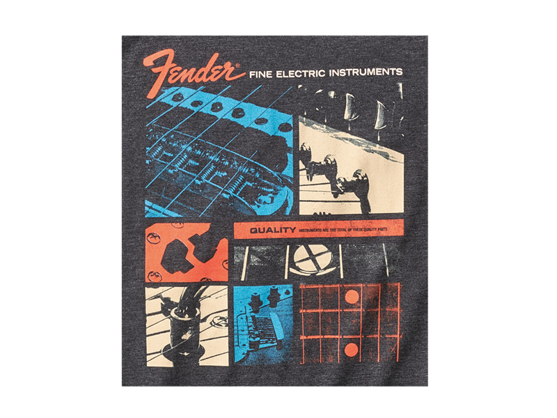 FENDER Jaguar T-Shirt, Dark Gray, S | Tričká S - 2