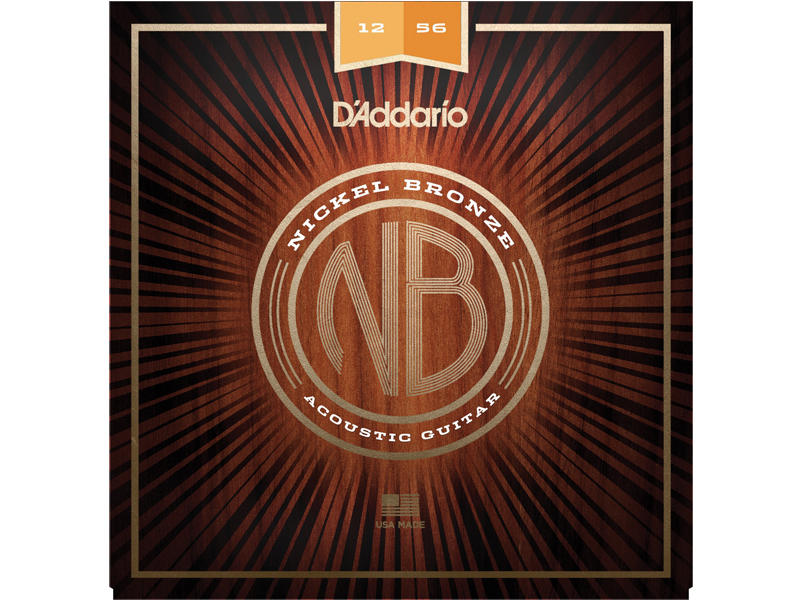 D'ADDARIO NB1256 Nickel Bronze Acoustic Light Top / Medium Bottom | Struny pre akustické gitary .012 - 1