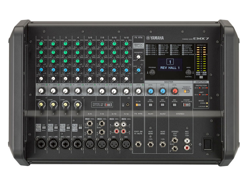 Yamaha EMX7, power mix | Powermixy - 1