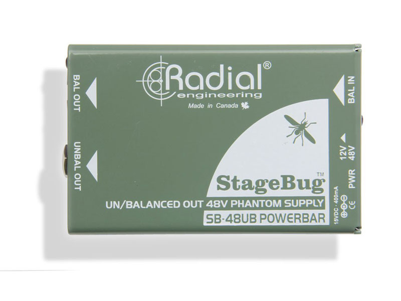 Radial StageBug SB-48UB phantom power supply | Aktívne DI-boxy - 1