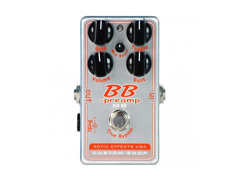 Xotic BB PREAMP-COMP Boost/Compressor/Distortion Pedal | Overdrive, Distortion, Fuzz, Boost - 1