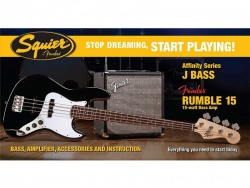 FENDER Squier Affinity Jazz Bass set