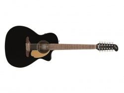 FENDER Villager 12-String, Walnut Fingerboard, Black V3 | Dreadnought