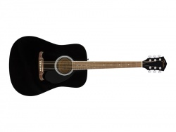 Fender FA-125 Dreadnought, Walnut Fingerboard, Black | Dreadnought
