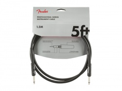 FENDER Professional Series Instrument Cable, Straight/Straight, 5', Black | Káblové prepojky
