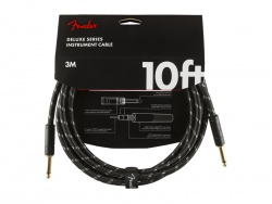 FENDER Deluxe Series Instrument Cable, Straight/Straight, 10', Black Tweed | 3m