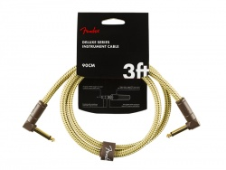 FENDER Deluxe Series Instrument Cable, Angle/Angle, 3', Tweed | Káblové prepojky