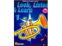 LOOK, LISTEN & LEARN 1 + CD method for trumpet | Školy hry na trúbku