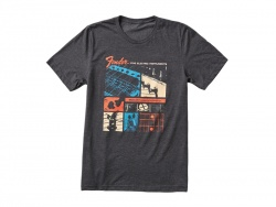 FENDER Jaguar T-Shirt, Dark Gray, S | Tričká S
