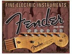 FENDER cedule kovová Headstock Tin Sign