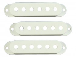Bare Knuckle Strat Cover White set