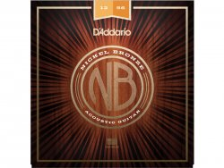 D'ADDARIO NB1256 Nickel Bronze Acoustic Light Top / Medium Bottom