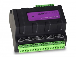 Visual Productions DIN-Rail DMX Splitter, RDM, Terminal