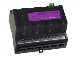 Visual Productions DIN-Rail DMX Splitter, RJ-45